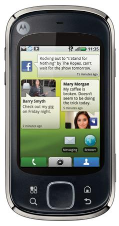 Motorola QUENCH, коммуникатор от motorola, телефон на android