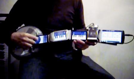 гитара из смартфонов