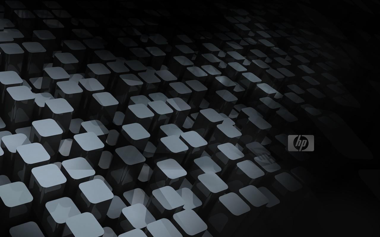 Черные обои HP 1280x800