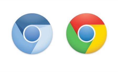 новый логотип google Chrome
