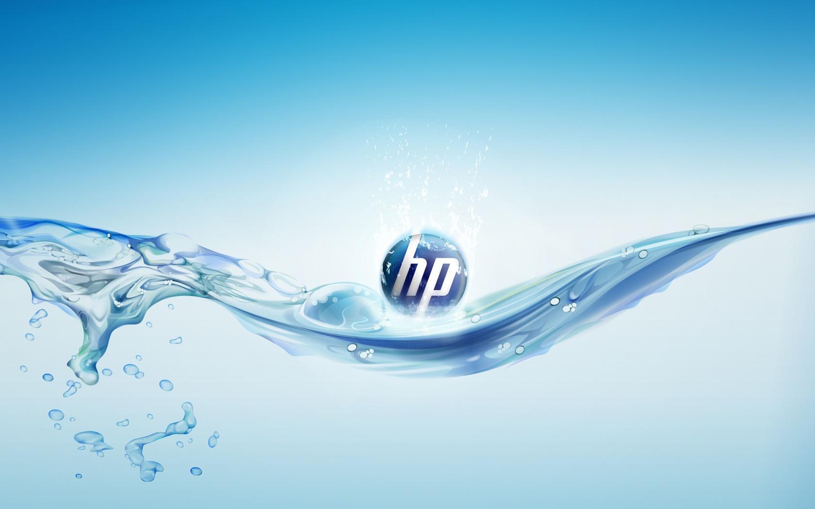 Обои HP и вода 1680х1050