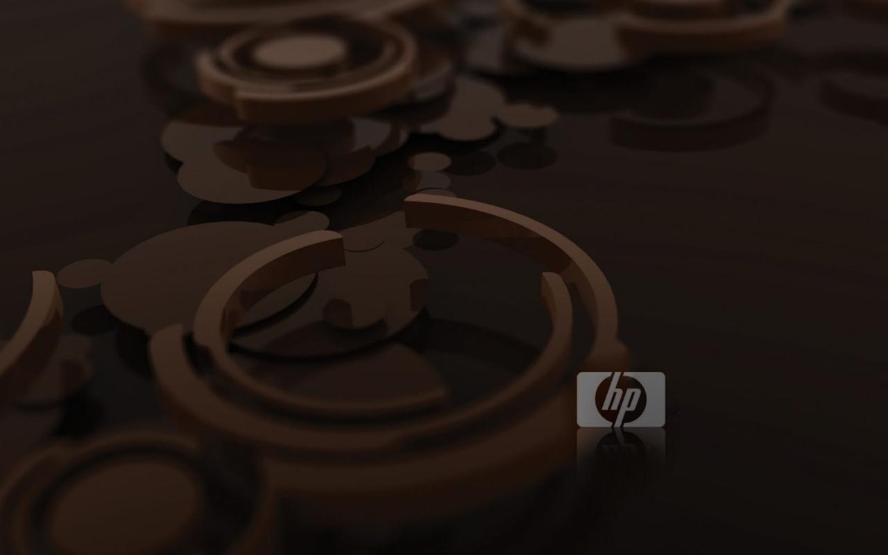 Коричневые обои HP 1280x800