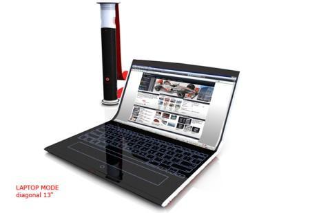 Rolltop ноутбук