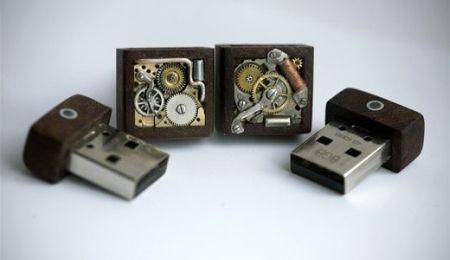 USB запонки стимпанк