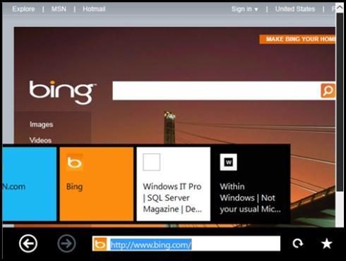Windows 8 сенсорный интерфейс