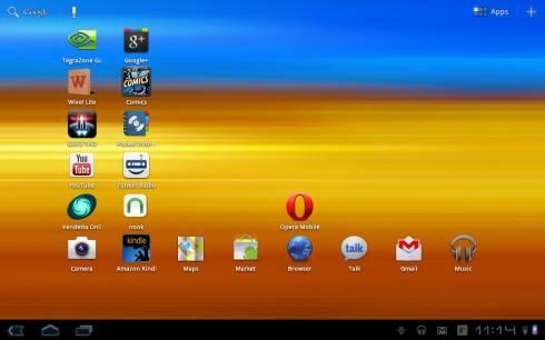 домашний экран Samsung Galaxy Tab 10.1