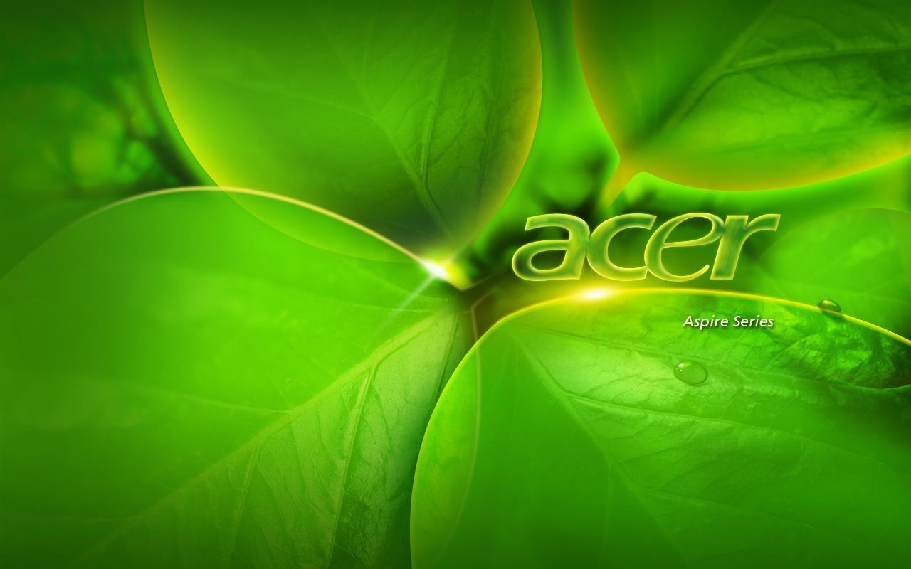 Acer Aspire зеленый фон (1280х800)