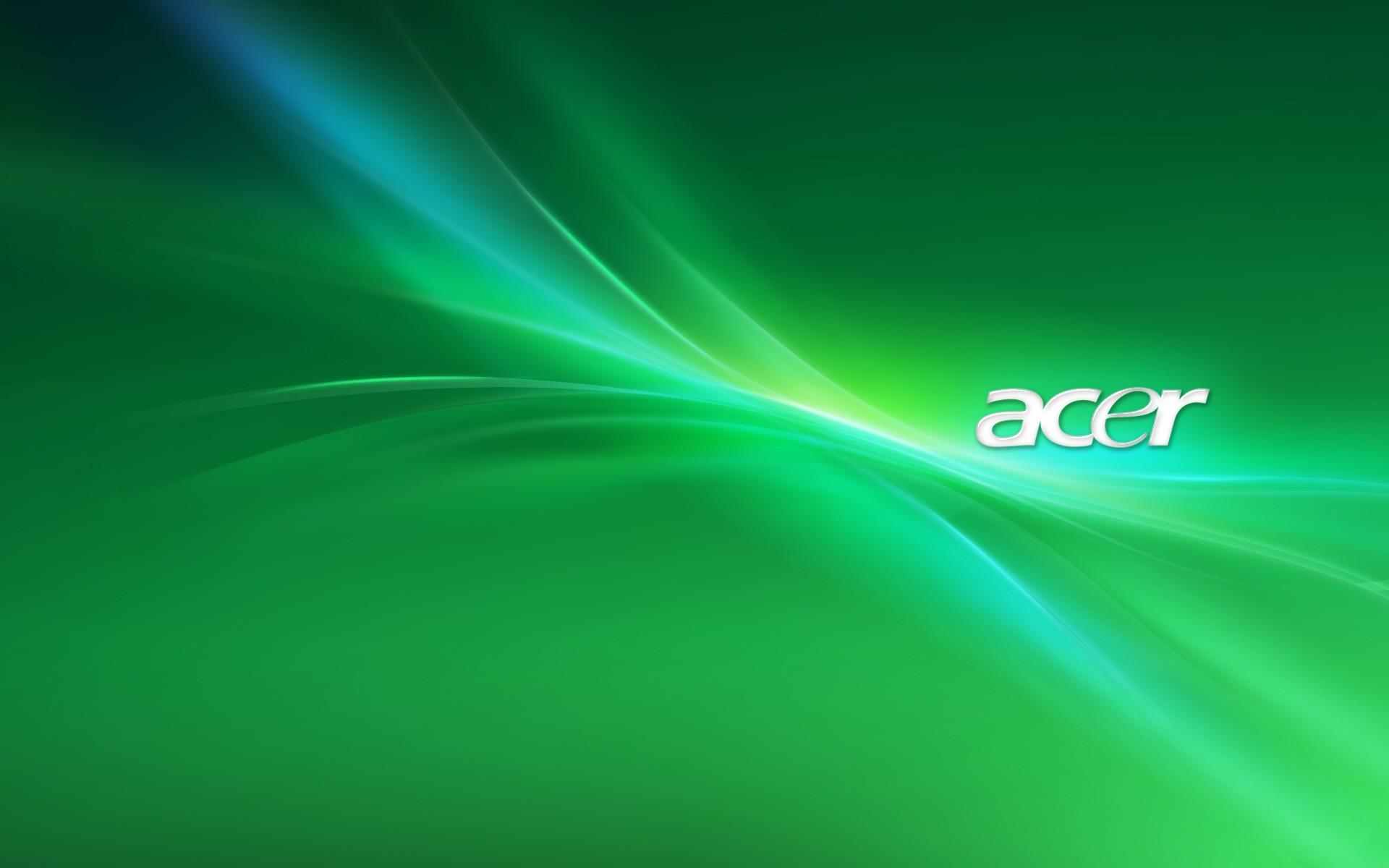 Зеленые обои Acer (1920x1200)