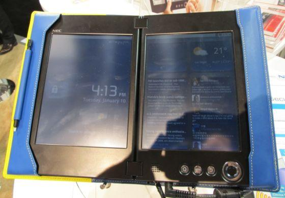 NEC dual-screen tablet