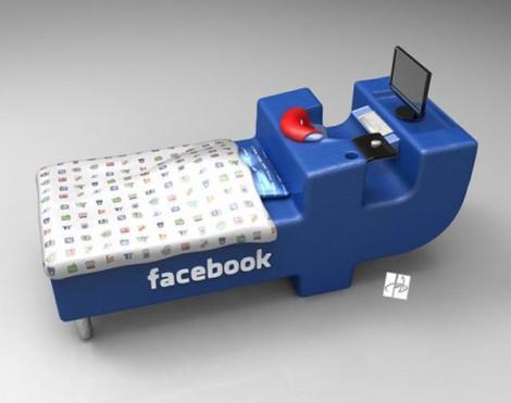 Кровать в стиле Facebook