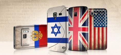 Наклейки на телефон в виде флага