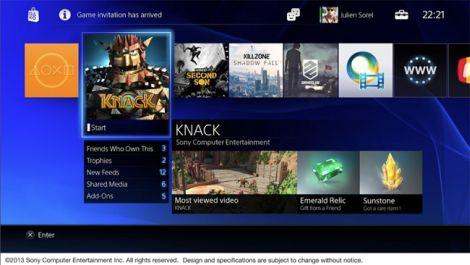 PlayStation 4 User Interface