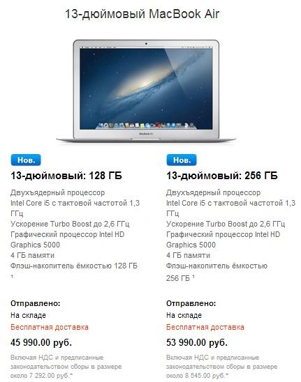 13-дюймовый Macbook Air в России