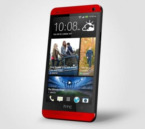 HTC One in Glamour Red