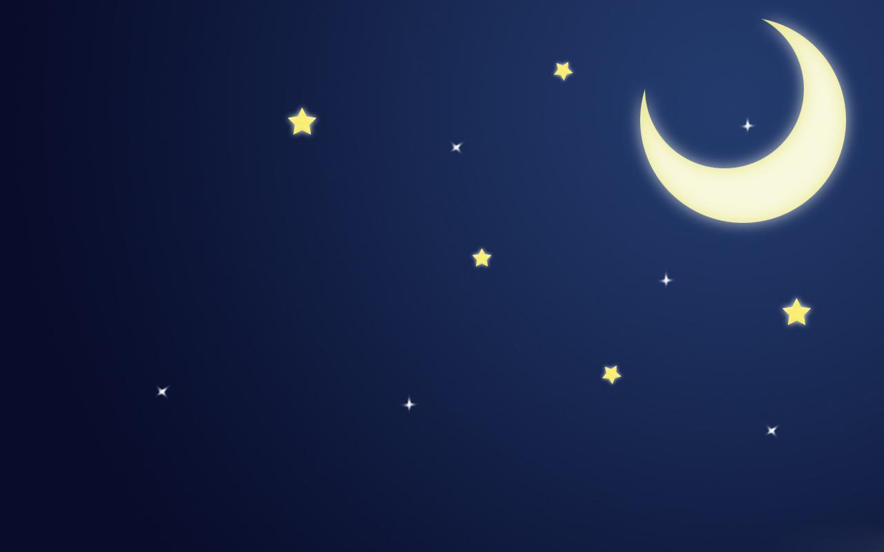 Луна и звезды обои Android