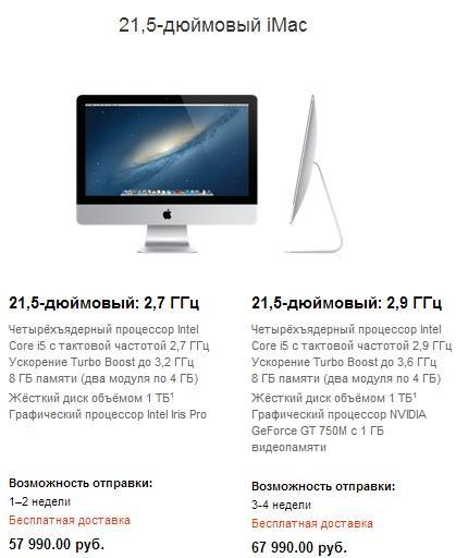 Новый iMac в России