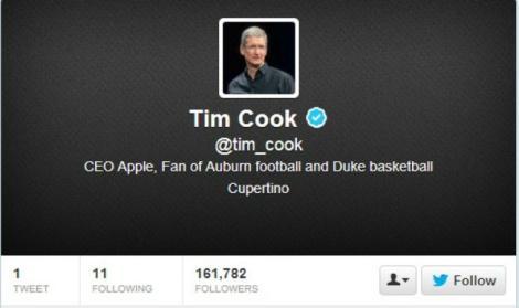 Тим Кук в Твиттере