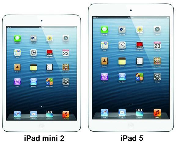 iPad mini 2 и iPad 5