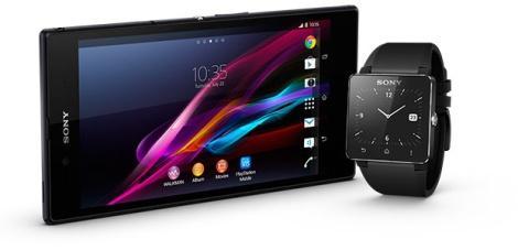 Sony Xperia Z Ultra и SmartWatch 2