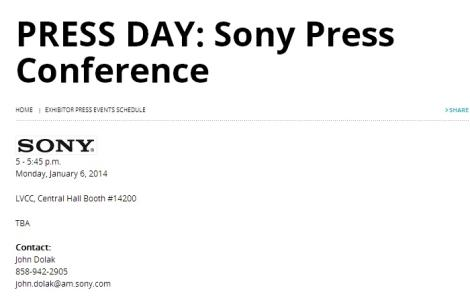 Sony CES 2014 Press Conference