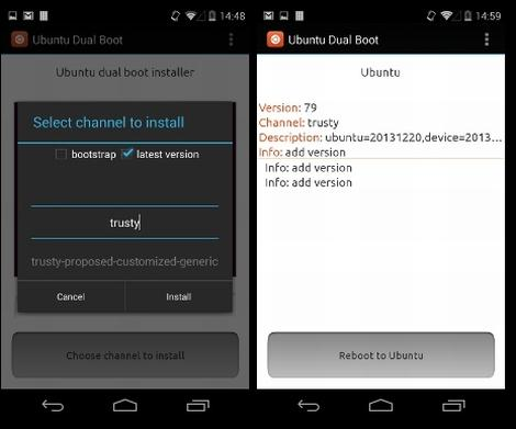 ubuntu dual boot android