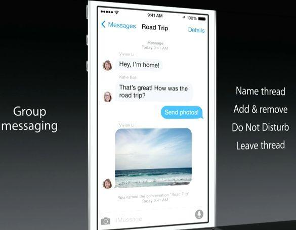 Сообщения iOS 8