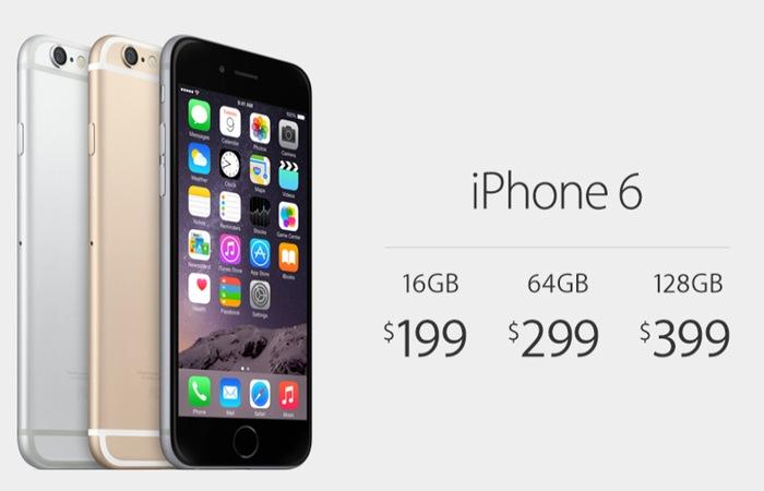 Стоимость iPhone 6