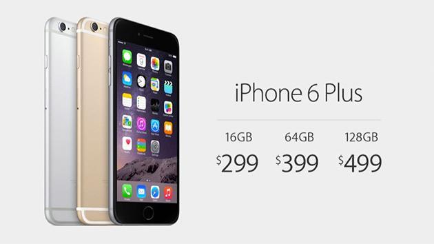 Стоимость iPhone 6 Plus