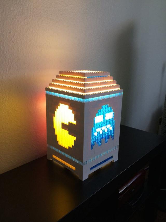 LEGO Pac-Man lamp