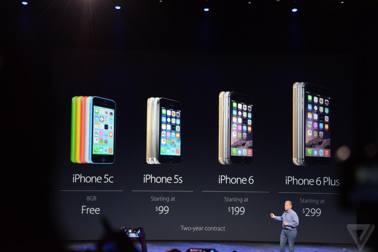 Стоимость новых iPhone 6 и iPhone 6 Plus