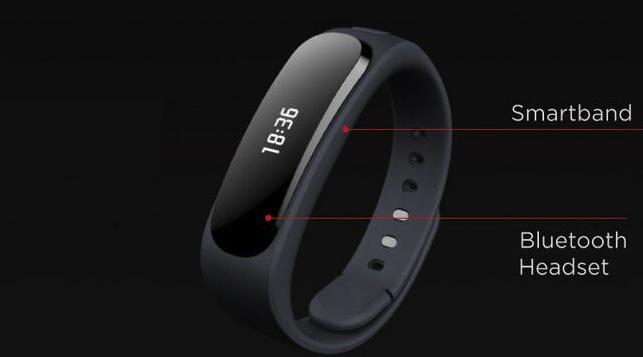Фитнес-трекер Huawei TalkBand B1 имеет встроенный Bluetooth-наушник