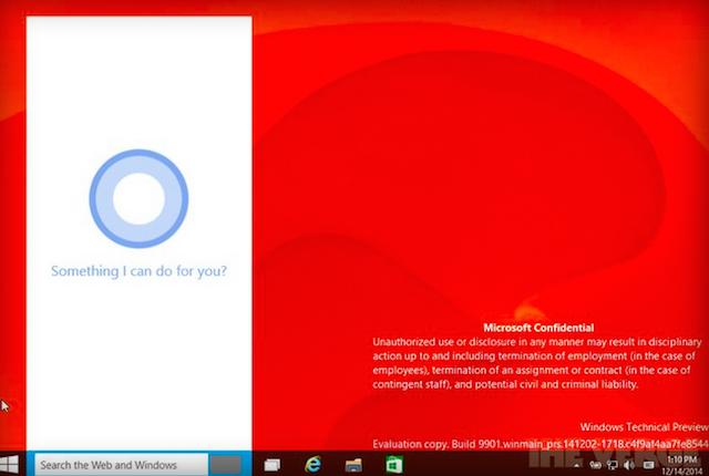Windows 10 интеграция с Cortana
