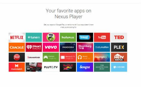 Nexus Player Apps