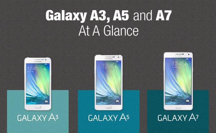 Samsung Galaxy A3, Galaxy A5 и A7