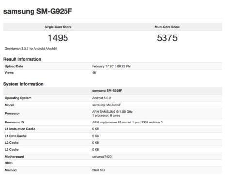 Galaxy S6 Edge тест
