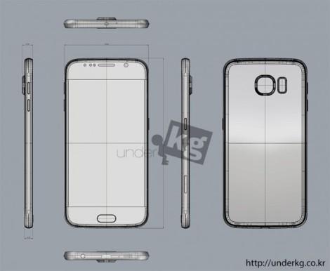 Samsung Galaxy S6 схематическое изображение