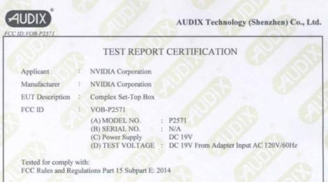 Консоль NVIDIA Shield замечена на FCC