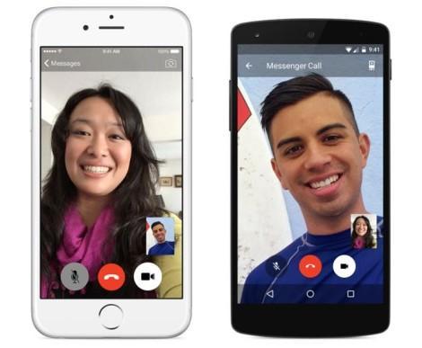 Facebook Messenger видеозвонки