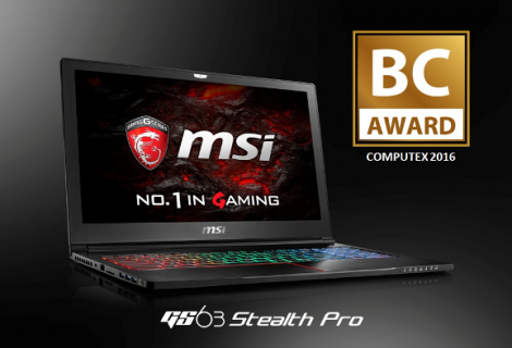 MSI GS63 Stealth Pro 1