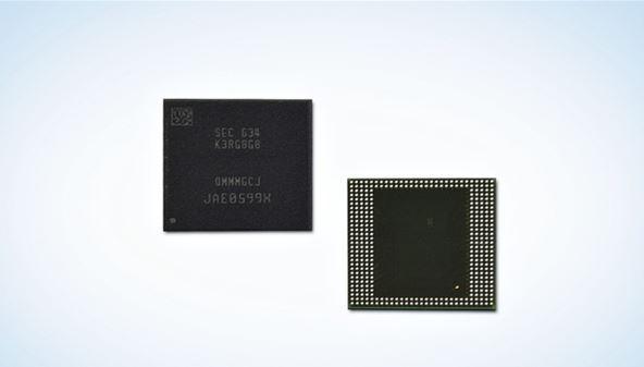 Самсунг представила первые чипы мобильной памяти LPDDR4 объёмом 8 Гб