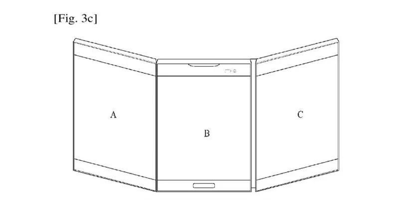 Телефоны  | LG запатентовала смартфон-книжку с тремя экранами | LG-2