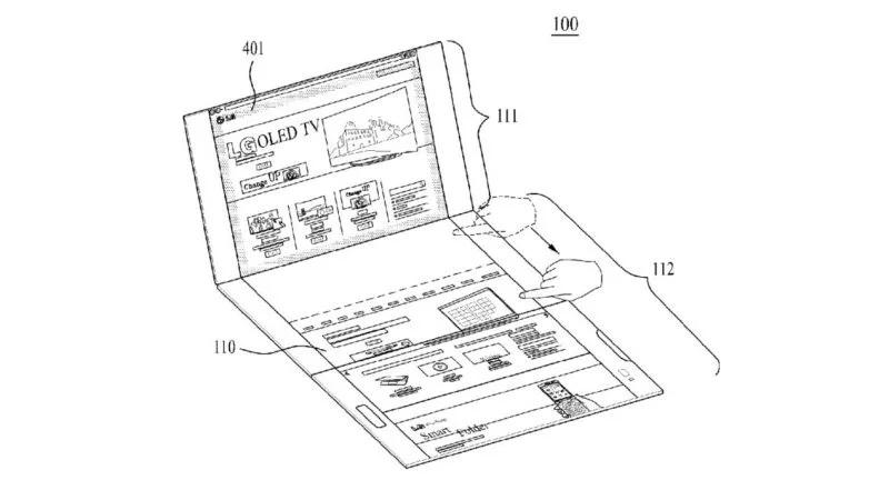 Телефоны  | LG запатентовала смартфон-книжку с тремя экранами | LG-4