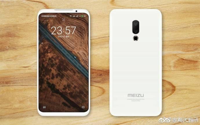 Засветилось изображение Meizu 16 с дисплеем с тонкими рамками и двойной...