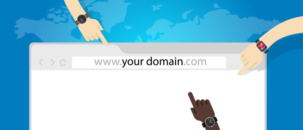 domain name web business internet concept url vector